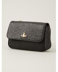 Vivienne Westwood - Black Orb Fever Leather Cross-Body Bag - Lyst