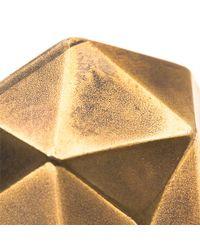 Beth Orduna   Metallic Faceted Brass Ring   Lyst