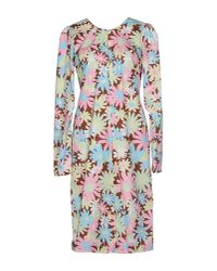 Marni | Brown Short Dress | Lyst