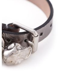 Alexander McQueen | Metallic Skull Buckled Bracelet for Men | Lyst