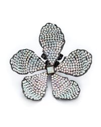 Rosie Assoulin | Black Oversized Flower Earrings | Lyst