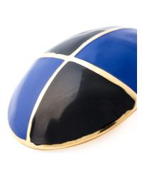 ESCADA - Black Geometric Contrast Earrings - Lyst