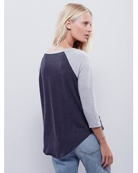 Free People | Gray We The Free Sail Away Tee | Lyst