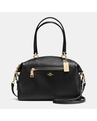 COACH - Black Prairie Satchel Bag In Leather - Lyst