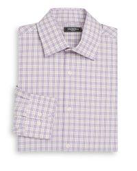 Saks Fifth Avenue | Pink Classic-fit Glen Plaid Check Dress Shirt for Men | Lyst