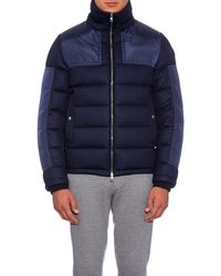 Moncler - Blue Severac Panelled Wool-flanel Coat for Men - Lyst