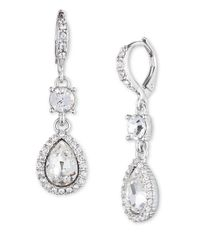 Givenchy | Metallic Glass Stone Teardrop Earrings | Lyst