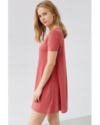 Silence + Noise - Red Riley Trapeze Dress - Lyst