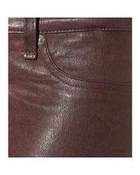 Rag & Bone Brown Skinny Leather Leggings