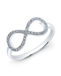 Anne Sisteron | Metallic 14kt White Gold Diamond Large Infinity Ring | Lyst
