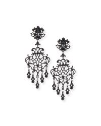 Jose & Maria Barrera | Metallic Lace Scroll Dangle Earrings | Lyst