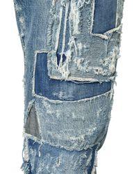 Dolce & Gabbana | Blue 17cm Gold Fit Destroyed Denim Jeans for Men | Lyst