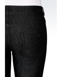 Emporio Armani - Black Super Skinny Dark Wash Jeans - Lyst