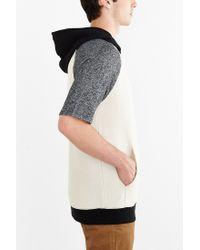 BDG - Gray Colorblock Short-sleeve Pullover Hoodie Sweatshirt for Men - Lyst