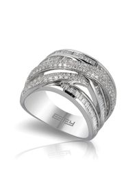 Effy | Metallic Diamond And 14k White Gold Ring, 1.21 Tcw | Lyst