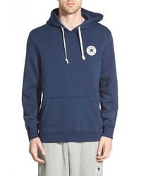 Converse | Blue 'core' Hoodie for Men | Lyst
