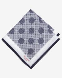 Ted Baker   Gray Polka Dot Pocket Square for Men   Lyst