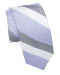 Michael Kors | Purple Silk And Cotton Tie for Men | Lyst