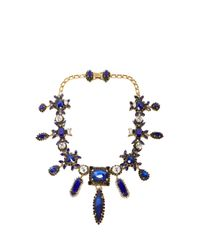 Erickson Beamon - Blue Queen Bee Necklace - Lyst