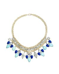 INC International Concepts | Blue Gold-tone Circle Chain And Colorful Stone Frontal Necklace | Lyst