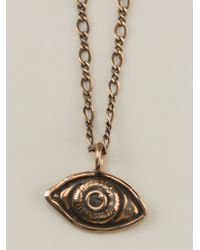 Pamela Love   Metallic Evil Eye Necklace   Lyst