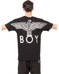 BOY London - Black Boy Eagle Printed Cotton T-shirt for Men - Lyst
