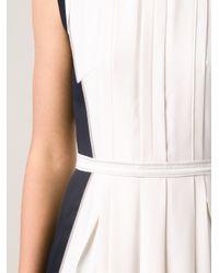 O'2nd - Black Combo Pleated Dress - Lyst