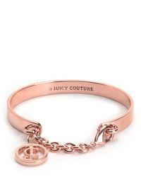 Juicy Couture | Metallic Jc Chain Bangle Bracelet | Lyst