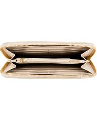 Chloé | Natural Light Beige Leather Paraty Wallet | Lyst