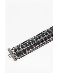 French Connection - Black Multi Row Bracelet - Lyst