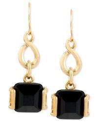 Kenneth Cole | Metallic Gold-tone Stone Drop Earrings | Lyst