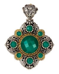 Konstantino | Green Onyx Diamond-Shape Enhancer | Lyst