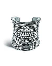 John Hardy - Metallic Dot 77mm Cuff In Silver - Lyst