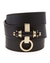 Givenchy | Black Obsedia Triple-wrap Leather Bracelet | Lyst