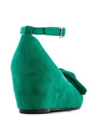 In Touch Footwear - Such A Doll Wedge In Green - Lyst