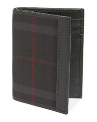 Burberry | Gray 'elton' Check Card Case for Men | Lyst