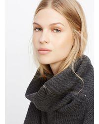 VINCE | Black Wool Cashmere Zip-turtleneck Sweater | Lyst