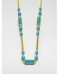 Kenneth Jay Lane | Metallic Enamel Station Necklace | Lyst