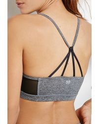 Forever 21 - Gray Medium Impact - Web Back Sports Bra You've Been Added To The Waitlist - Lyst