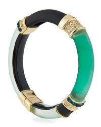 Alexis Bittar - Multicolor Colorblock Crystal Hinge Bracelet - Lyst