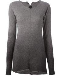 Rundholz - Gray Dégradé Knit Sweater - Lyst