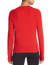 Lord & Taylor | Red Plus Crewneck Cashmere Cardigan | Lyst