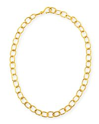 Dina Mackney | Metallic Hammered Oval-link Chain Necklace | Lyst