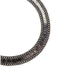 BCBGMAXAZRIA | Multicolor Corded Stone Necklace | Lyst