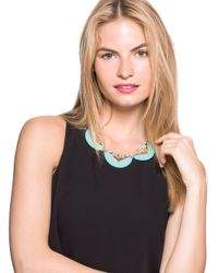 BaubleBar - Orange Half-Disk Deco Collar - Lyst