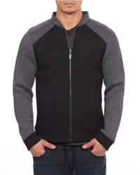 William Rast | Black Colorblocked Zip Up for Men | Lyst