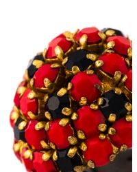 Nina Ricci - Black Crystal Cluster Clip-on Earrings - Lyst