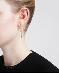 Asherali Knopfer | Metallic Interchangeable Pearl, Spike And Gold Bar Earring | Lyst