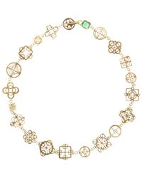 Judy Geib | Metallic Emerald & Gold Casino Royale Short Necklace | Lyst