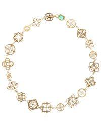 Judy Geib - Metallic Emerald & Gold Casino Royale Short Necklace - Lyst